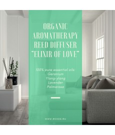 "Organic Aromatherapy Reed Diffuser ""Elixir of Love"""