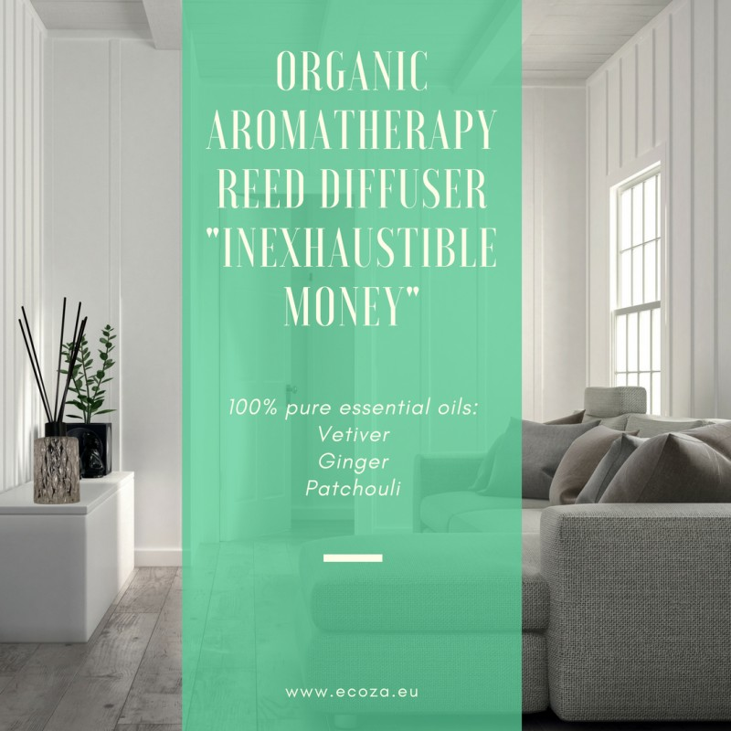 "Organic Aromatherapy Reed Diffuser  ""Inexhaustible Money"""