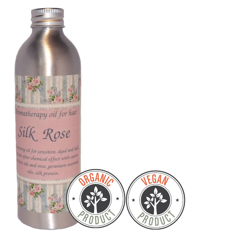 "Organic and volumizing hydrophilic oil  ""Silk Rose""for dry hair"