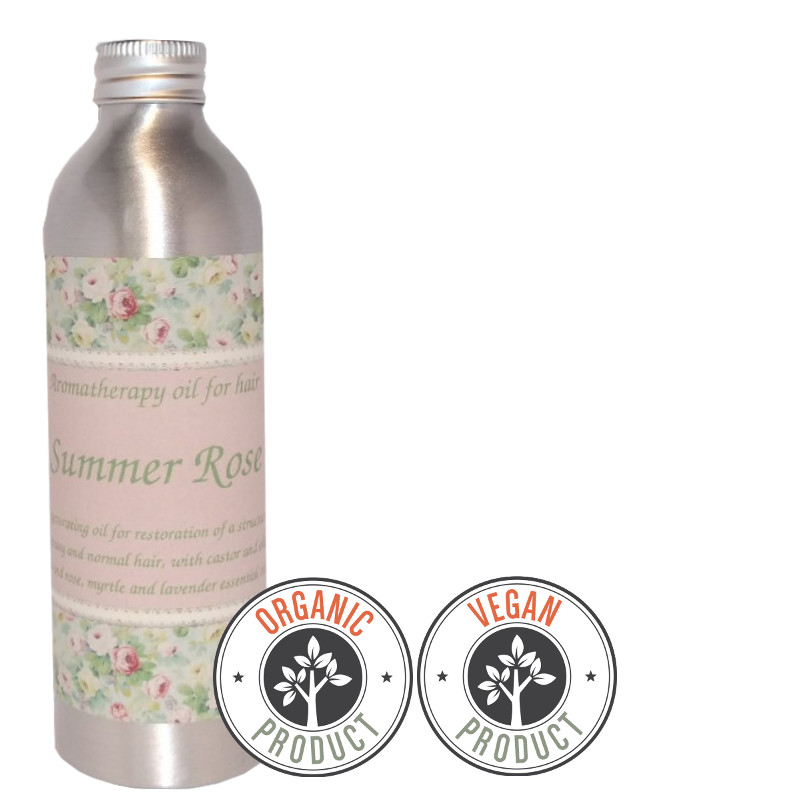 "Organic and regenerating hydrophilic oil  ""Summer Rose"" greasy and normal hair"