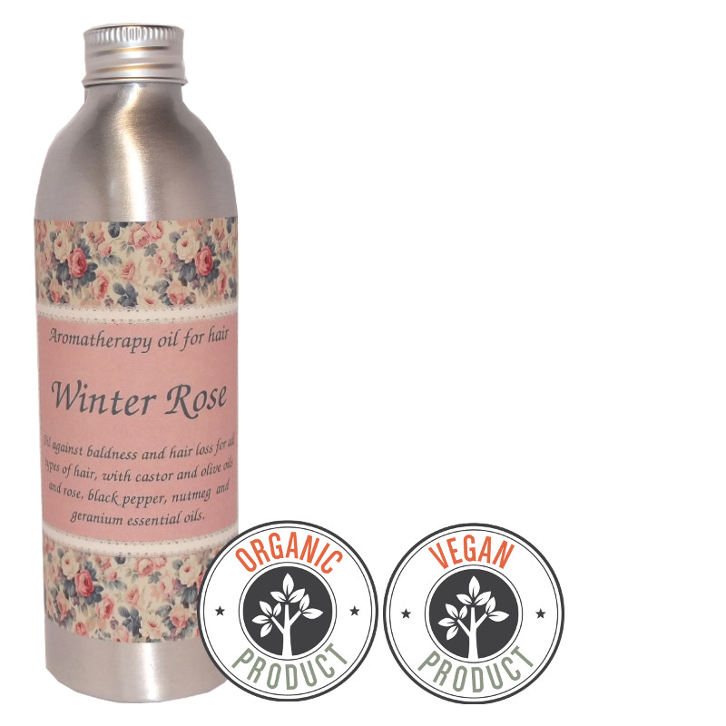 "Organic hydrophilic oil against hair loss and balding ""Winter Rose""for all hair types"